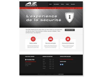 Site Web AZ Serrurier